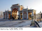 """Купить «Москва, музей-усадьба """"Царицыно"""" морозным зимним днем», фото № 29595170, снято 17 декабря 2018 г. (c) Natalya Sidorova / Фотобанк Лори"""
