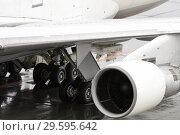 Купить «Турбина пассажирского самолета крупным планом», фото № 29595642, снято 14 июня 2009 г. (c) Александр Гаценко / Фотобанк Лори