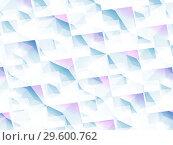 Купить «Blue white polygonal background, 3d art», иллюстрация № 29600762 (c) EugeneSergeev / Фотобанк Лори