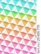 Купить «Abstract geometric pattern, white pyramids», иллюстрация № 29600770 (c) EugeneSergeev / Фотобанк Лори