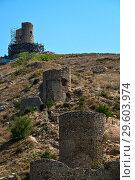 Купить «Генуэзская крепость Чембало в Балаклаве, Крым», фото № 29603974, снято 31 августа 2018 г. (c) Евгений Прокофьев / Фотобанк Лори