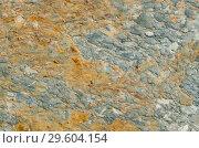 Pebble texture of ferrous stone close-up. Стоковое фото, фотограф Сергей Журавлев / Фотобанк Лори