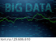 Купить «The big data and data mining concept illustration - 3d rendering», фото № 29606610, снято 17 июня 2019 г. (c) Elnur / Фотобанк Лори