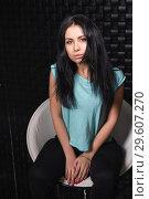 Купить «Thoughtful young woman», фото № 29607270, снято 7 января 2016 г. (c) Сергей Сухоруков / Фотобанк Лори