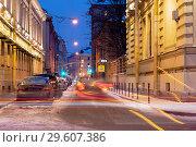 Купить «Мошков переулок. Санкт-Петербург», эксклюзивное фото № 29607386, снято 23 декабря 2018 г. (c) Александр Щепин / Фотобанк Лори