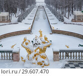 Купить «Петергоф зимой», фото № 29607470, снято 22 января 2018 г. (c) Юлия Бабкина / Фотобанк Лори