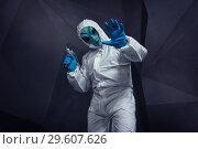 An alien from in a retro film. Стоковое фото, фотограф Дмитрий Черевко / Фотобанк Лори