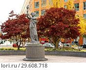Купить «Victims of Communism Memorial. Statue is recreation by Thomas Marsh of Goddess of Democracy, which was destroyed in Tiananmen Square», фото № 29608718, снято 24 ноября 2018 г. (c) Валерия Попова / Фотобанк Лори