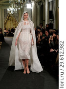 Купить «Madrid Fashion Week Atelier Couture - Alicia Rueda - Catwalk Featuring: model Where: Madrid, Spain When: 16 Mar 2018 Credit: Oscar Gonzalez/WENN.com», фото № 29612982, снято 16 марта 2018 г. (c) age Fotostock / Фотобанк Лори