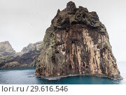 Icelandic landscape with coastal rock (2017 год). Стоковое фото, фотограф EugeneSergeev / Фотобанк Лори