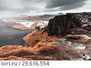 Icelandic scenic landscape. Black sands (2017 год). Стоковое фото, фотограф EugeneSergeev / Фотобанк Лори