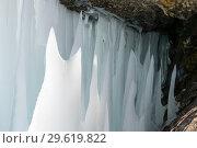 Купить «Icicles on Lake Baikal», фото № 29619822, снято 7 марта 2017 г. (c) Юлия Белоусова / Фотобанк Лори