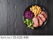 Купить «sliced terrine of beef tongue and meat», фото № 29620446, снято 18 декабря 2018 г. (c) Oksana Zh / Фотобанк Лори