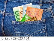Купить «Euro banknotes with credit cards», фото № 29623154, снято 24 ноября 2017 г. (c) FotograFF / Фотобанк Лори