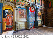 Купить «Orthodox iconostasis inside the ancient wooden Trinity Church», фото № 29623242, снято 11 июня 2018 г. (c) FotograFF / Фотобанк Лори