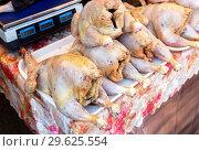 Купить «Fresh raw chicken meat ready for sale», фото № 29625554, снято 22 сентября 2018 г. (c) FotograFF / Фотобанк Лори