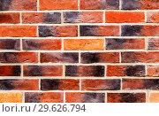 Купить «Weathered red brick wall as background texture», фото № 29626794, снято 9 сентября 2018 г. (c) FotograFF / Фотобанк Лори