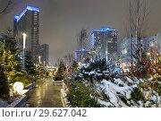 Купить «Москва новогодняя. Волшебный лес на Новом Арбате», фото № 29627042, снято 19 декабря 2018 г. (c) Dmitry29 / Фотобанк Лори