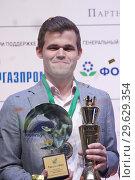 Купить «World Chess Champion Magnus Carlsen, Norway», фото № 29629354, снято 30 декабря 2018 г. (c) Stockphoto / Фотобанк Лори