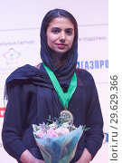 Купить «World Rapid and Blitz Chess Vice Champion Sarasadat Khademalsharieh, Iran», фото № 29629366, снято 30 декабря 2018 г. (c) Stockphoto / Фотобанк Лори