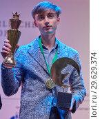 Купить «World Rapid Chess Champion Daniil Dubov, Russia», фото № 29629374, снято 30 декабря 2018 г. (c) Stockphoto / Фотобанк Лори