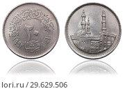 Купить «Монета 5 пиастров. Египет. 1992», фото № 29629506, снято 22 января 2016 г. (c) Евгений Ткачёв / Фотобанк Лори