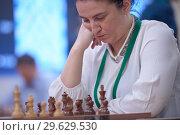 Купить «Women Grandmaster Zeinab Mamedjarova, Azerbaijan», фото № 29629530, снято 30 декабря 2018 г. (c) Stockphoto / Фотобанк Лори