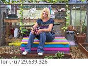 Купить «Image of PEGGY ANNE CAMPBELL, Plot 78, Eglinton Growers, Kilwinning, Eglinton Growers Allotments, Kilwinning, Ayrshire, Scotland, UK.», фото № 29639326, снято 21 мая 2018 г. (c) age Fotostock / Фотобанк Лори