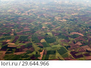Купить «Farmland from great height in the Krasnodar Territory of Russia», фото № 29644966, снято 29 мая 2018 г. (c) Володина Ольга / Фотобанк Лори