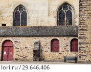 France, Ile et Vilaine, Fragment of Church of Paimpont Abbey (2017 год). Стоковое фото, фотограф Николай Коржов / Фотобанк Лори