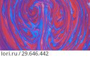 Купить «Colored paint beautiful spread in liquid, realtime shot», видеоролик № 29646442, снято 5 июля 2020 г. (c) Dzmitry Astapkovich / Фотобанк Лори