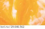 Купить «Colored paint beautiful spread in liquid, realtime shot», видеоролик № 29646562, снято 5 июля 2020 г. (c) Dzmitry Astapkovich / Фотобанк Лори