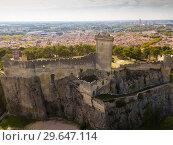 Купить «Aerial view of Chateau de Beaucaire, France», фото № 29647114, снято 13 октября 2018 г. (c) Яков Филимонов / Фотобанк Лори