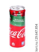 Купить «Coca-Cola Christmas Edition», фото № 29647854, снято 5 января 2019 г. (c) Art Konovalov / Фотобанк Лори