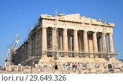 Купить «Древнегреческий храм Парфенон в Афинах», эксклюзивное фото № 29649326, снято 30 сентября 2007 г. (c) Дмитрий Неумоин / Фотобанк Лори