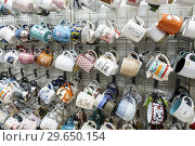 Купить «Florida, Fort Ft. Lauderdale, Sunrise, Sawgrass Mills Mall, shopping, Marshalls Discount Department Store, inside, display sale, coffee mugs,», фото № 29650154, снято 20 декабря 2018 г. (c) age Fotostock / Фотобанк Лори