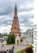 Купить «Falling Tower Syuyumbike in Kazan Kremlin», фото № 29658378, снято 10 июня 2018 г. (c) FotograFF / Фотобанк Лори