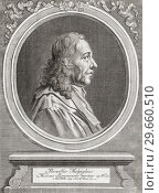 Marcello Malpighi, 1628-1694. Italian biologist and physician. Considered as the â. œFather of microscopical anatomy, histology, physiology and embryologyâ.. (2018 год). Редакционное фото, фотограф Classic Vision / age Fotostock / Фотобанк Лори