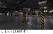 Купить «Underground parking with few cars», видеоролик № 29661414, снято 20 сентября 2019 г. (c) Данил Руденко / Фотобанк Лори