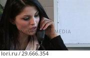 Купить «Businesswoman Working in Office», видеоролик № 29666354, снято 26 февраля 2008 г. (c) Wavebreak Media / Фотобанк Лори