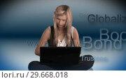 Купить «Business woman on Laptop», видеоролик № 29668018, снято 23 марта 2019 г. (c) Wavebreak Media / Фотобанк Лори