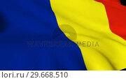 Купить «Romanian National Flag», видеоролик № 29668510, снято 17 июля 2019 г. (c) Wavebreak Media / Фотобанк Лори