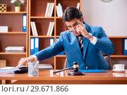 Купить «Lawyer working in the office», фото № 29671866, снято 8 августа 2018 г. (c) Elnur / Фотобанк Лори