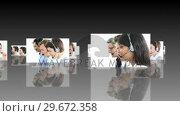 Купить «HD Foootage Fly Thorugh of a call centre», видеоролик № 29672358, снято 21 февраля 2019 г. (c) Wavebreak Media / Фотобанк Лори
