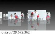 Купить «Stress in the work environment in HD format», видеоролик № 29672362, снято 17 февраля 2019 г. (c) Wavebreak Media / Фотобанк Лори