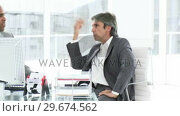 Купить «Two angry businessman having a talk», видеоролик № 29674562, снято 23 марта 2019 г. (c) Wavebreak Media / Фотобанк Лори