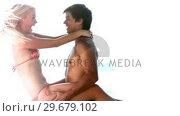 Купить «Man lifting his girlfriend in slow motion», видеоролик № 29679102, снято 18 ноября 2011 г. (c) Wavebreak Media / Фотобанк Лори