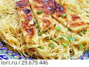 Купить «Balaleet. Traditional Emirati dish», фото № 29679446, снято 11 января 2019 г. (c) Марина Володько / Фотобанк Лори