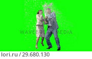 Купить «Business people in slow motion celebrating an event», видеоролик № 29680130, снято 21 ноября 2011 г. (c) Wavebreak Media / Фотобанк Лори