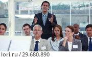 Купить «Man asking a question», видеоролик № 29680890, снято 22 ноября 2011 г. (c) Wavebreak Media / Фотобанк Лори